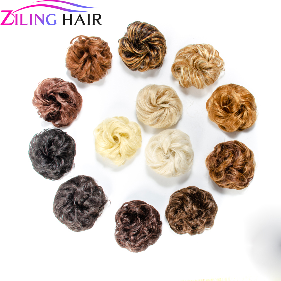 Synthetic Messi Hair Scrunchie Chignon Bun Women Messy Hairpieces Accessories False Bundle Hair Ziling Hair