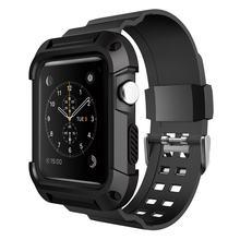 Funda de silicona TPU con correa deportiva para iwatch, accesorios para Apple Watch Series 1 2 3 38mm 42mm 38 42mm