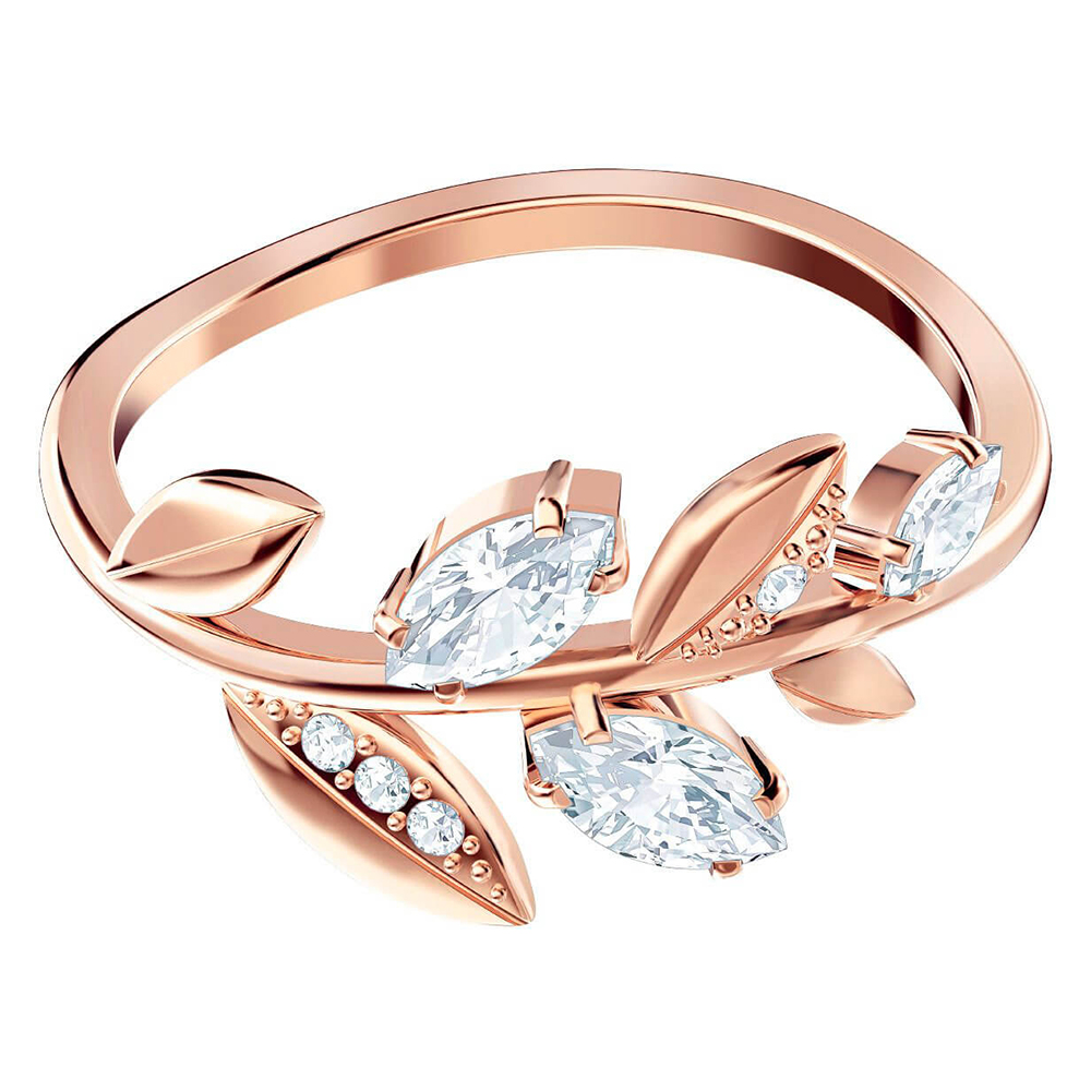 Fashion High Quality MAYFLY Leaf Rose Gold Ring Exquisite Elegant Ladies Jewellery Send Girlfriend Birthday Gift  Unique Retro