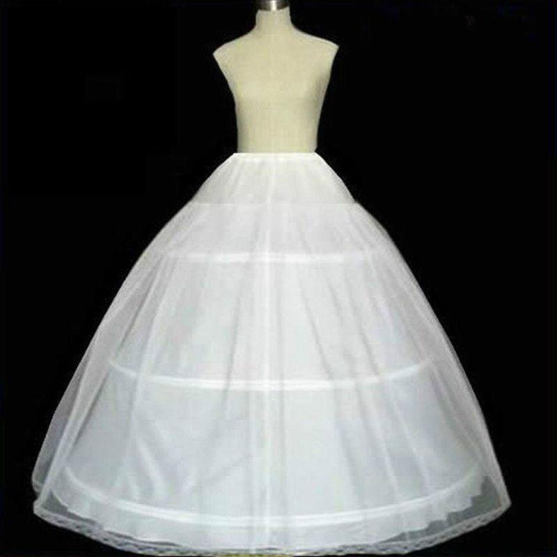 Bride Bridal Wedding Dress Support Petticoat 3 Hoops 1-layer Yarn Skirt Women Costume Skirts Lining Liner