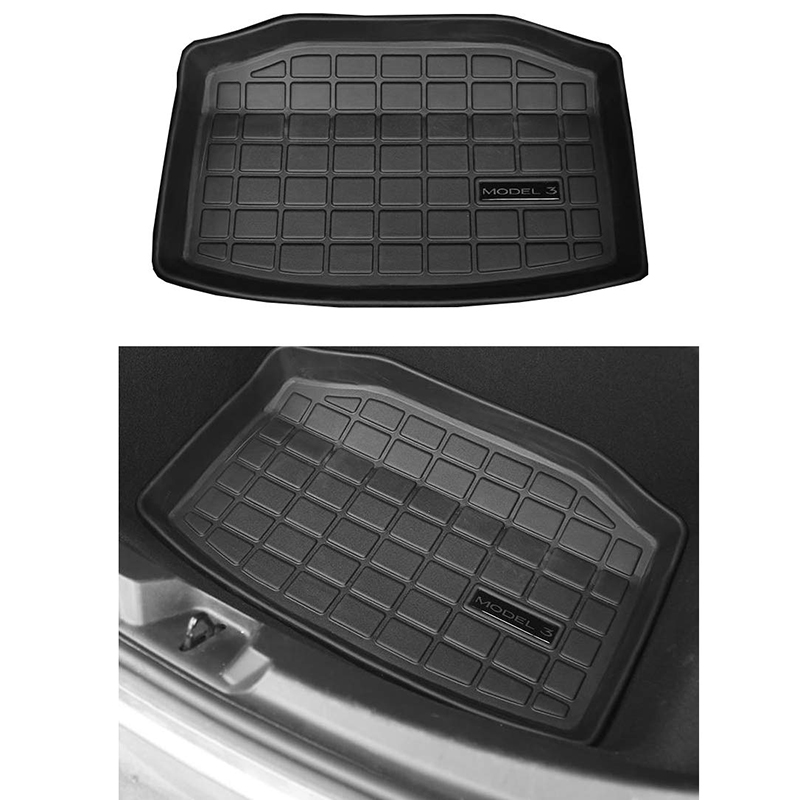 Car Trunk Mat Storage Mat Cargo Tray Trunk Waterproof Protective Pads Compatible For Tesla Model 3 (Rear Trunk Storage Mat)