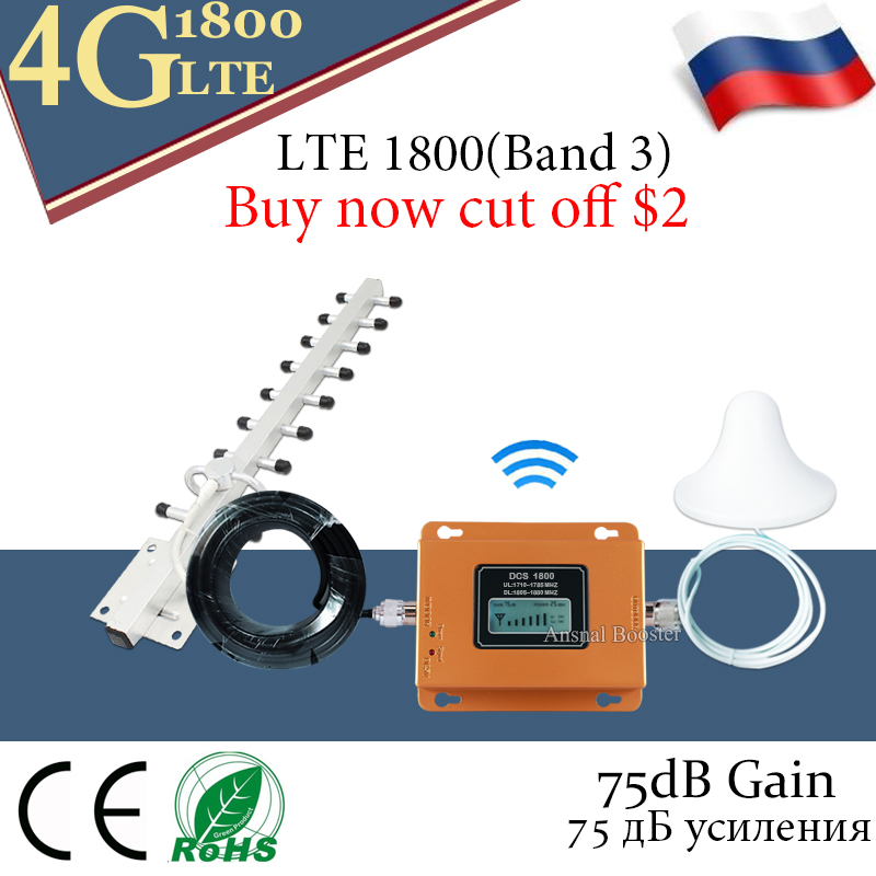 Russia 4g Signal Booster Lte Dcs 1800 Mhz Repeater Gsm 4g Mobile Signal Repeater 1800mhz Cellular Signal Amplifier Band 3
