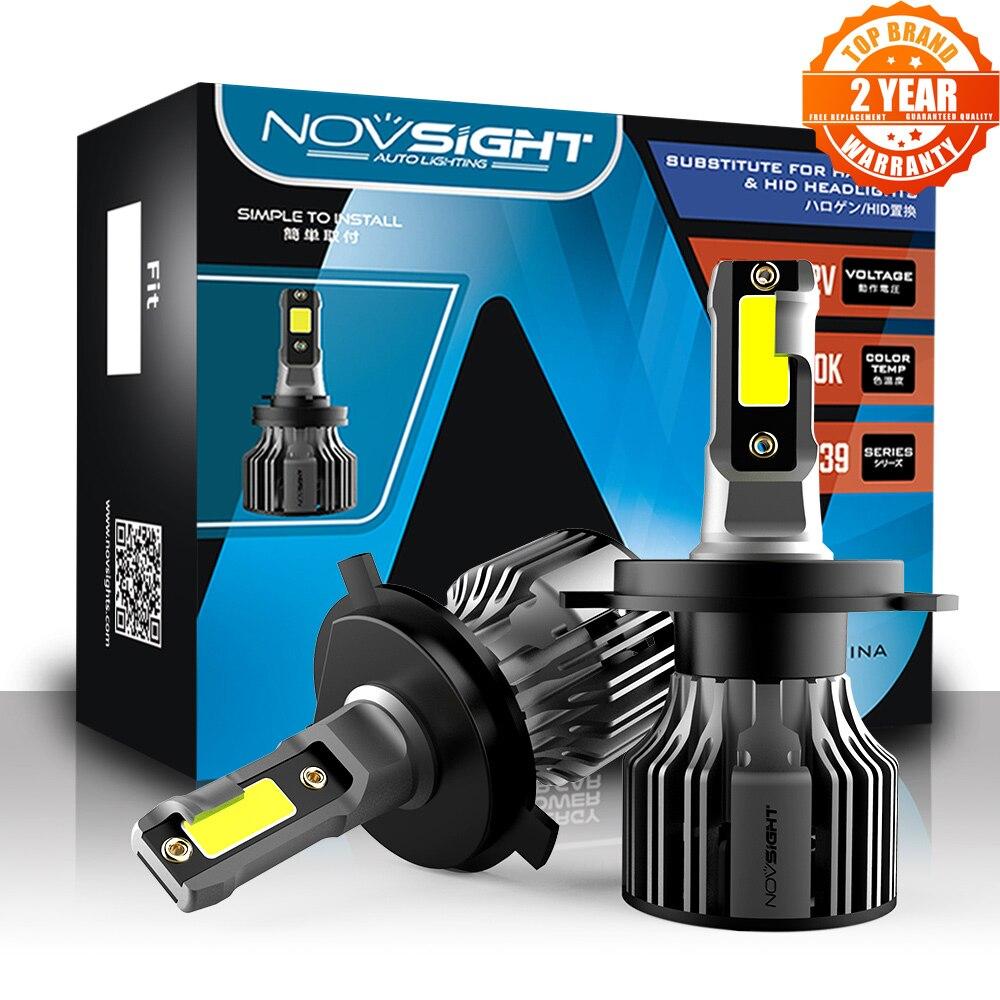 NOVSIGHT автомобилей головной светильник светодиодный H4 H1 H3 H7 H11 H8 H9 9005 9006 9007 9012 туман светильник лампы 72W фары для 10000LM 6000 К авто фары