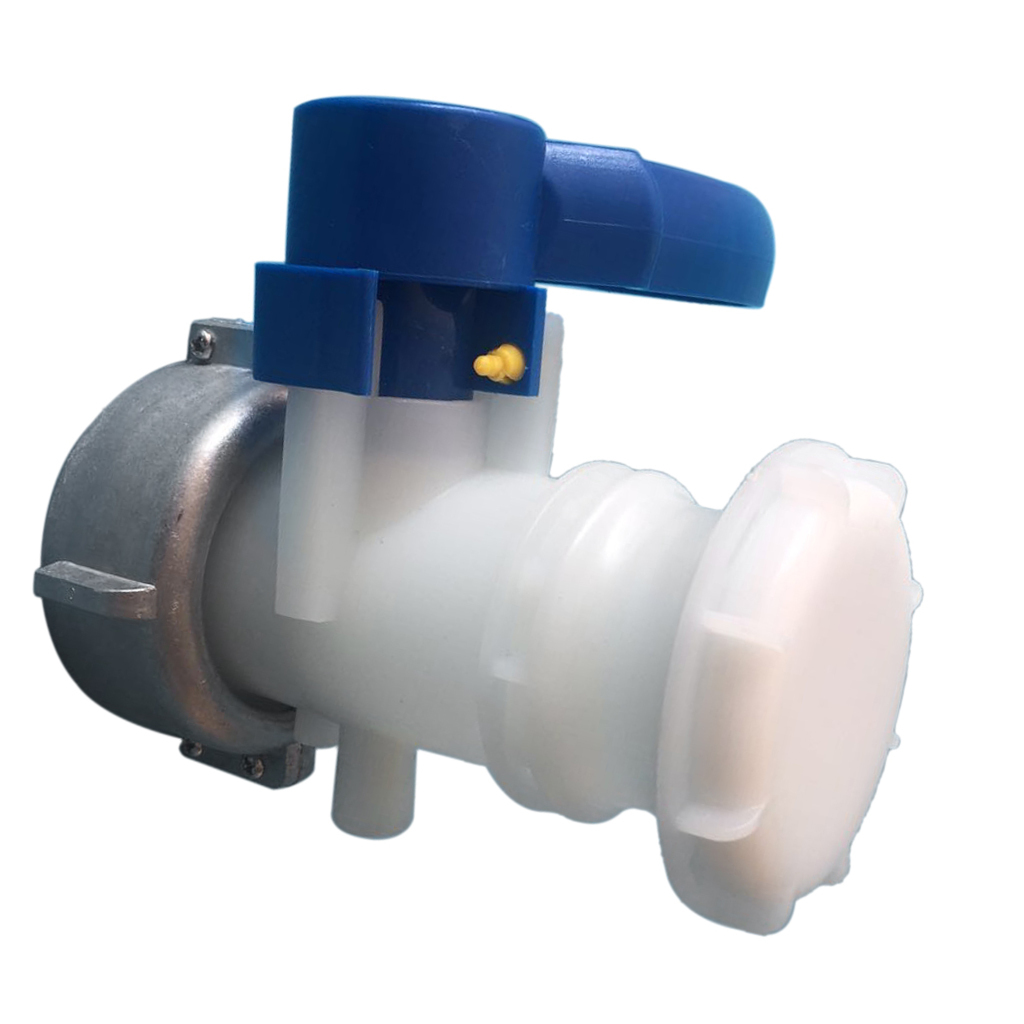 Details about  /Butterfly Valve Container Outlet  Alkali Resistant PE Tank Valve 75mm