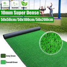 10mm Super gęsta sztuczna murawa mata fałszywy syntetyczny krajobraz Golf trawnik dom ogród stoczni biodegradowalne nasion Starter Mat
