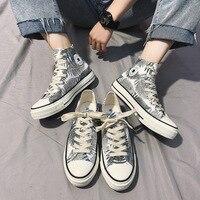 Новинка; повседневная обувь унисекс на плоской подошве; сезон весна-осень; Мужская прогулочная обувь; парусиновая обувь; высокие кроссовки; ...