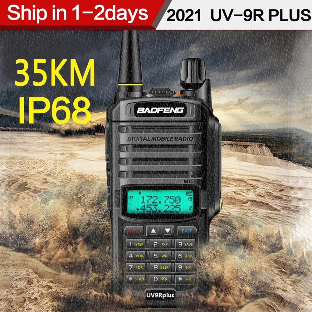 Walkie-Talkie Two-Way-Radio UV9R IP68 Long-Range Waterproof Portable Cb Ham KM Baofeng