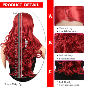 Image 4 - Synthetic Lace Front Wig For Black/White Women Long Ombre Body Wave Wig Red Brown Pink 613 High Temperature Fiber Golden Beauty