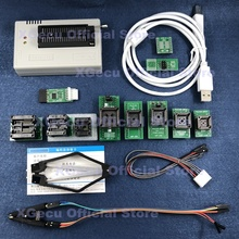 Czarny ZIF gniazdo V10.27 XGecu TL866II Plus programator USB 15000 + IC SPI Flash NAND EEPROM MCU PIC AVR + 12 sztuk ADAPTER + IC ekstraktor