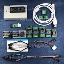 블랙 ZIF 소켓 V10.27 XGecu TL866II Plus USB 프로그래머 15000 + IC SPI 플래시 NAND EEPROM MCU PIC AVR + 12PCS 어댑터 + IC 추출기