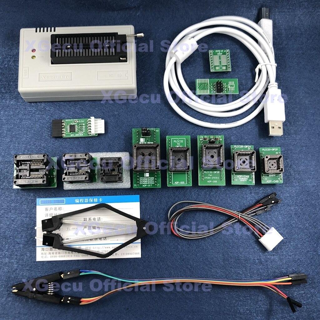 Adaptador + ic 15000 + ic Avr + 12 Preto Soquete Xgecu Tl866ii Plus Usb Programador Spi Flash Nand Eeprom Mcu Pic Pcs Extrator Zif V10.13