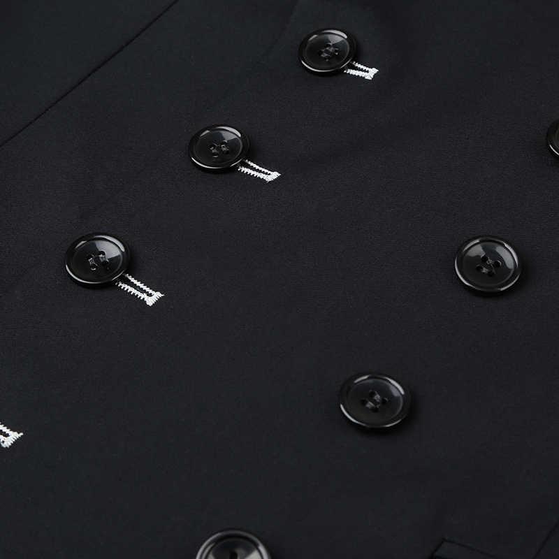 Shenrun 남자 정장 슬림 맞는 새로운 패션 정장 더블 브레스트 피크 옷깃 네이비 블루 블랙 웨딩 신랑 파티 댄스 파티 스키니 의상