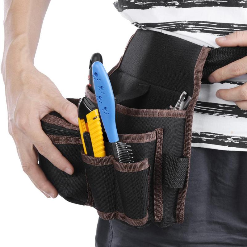 3 Layers Multi-function Tool Waist Bag Pouch Belt Waist Pocket Outdoor Work Hand Tools Hardware Storage Electrician Tool