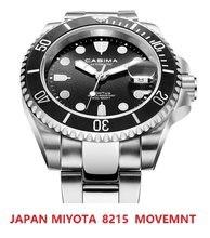 كاسيما اليابان 8215 Movt التلقائي ساعة رجالي مقاوم للماء 200 متر ساعة اليد رجل ساعات آلية الياقوت الزجاج Relogio Masculino