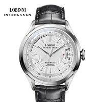 LOBINNI Business Männlichen Hohe Qualität Armbanduhr Luxus Marke Männer Datum Uhr Sapphire 50M Wasserdichte Automatische Mechanische Uhren