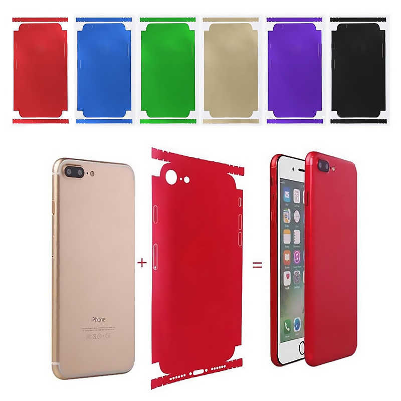 New Colorful Ice Film Skin for Apple iPhone 7 XS Mobile Phone 5S 6S Plus 7 8Plus X Full Cover 7Plus Soft Back Film Coque Fundas