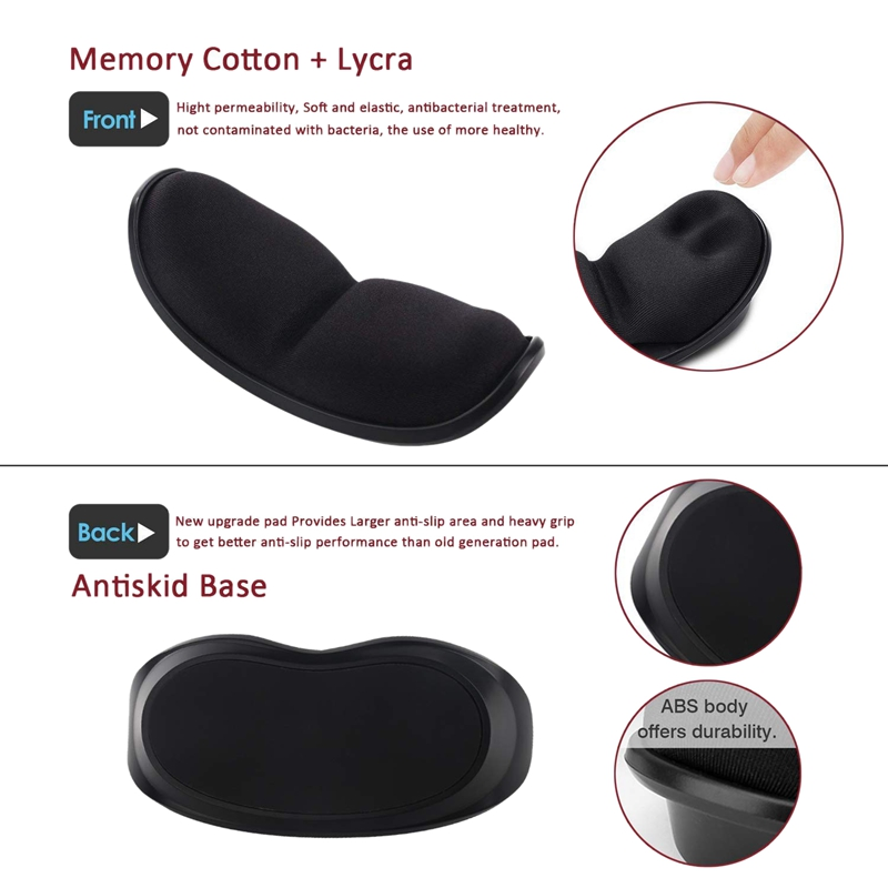Ergonomics Wrist Pad Anti Slip Wrist Support Cushion Cushion Cushion Memory Foam Mouse Pad for Office Computer PC Laptop Li in Mouse Pads from Computer Office