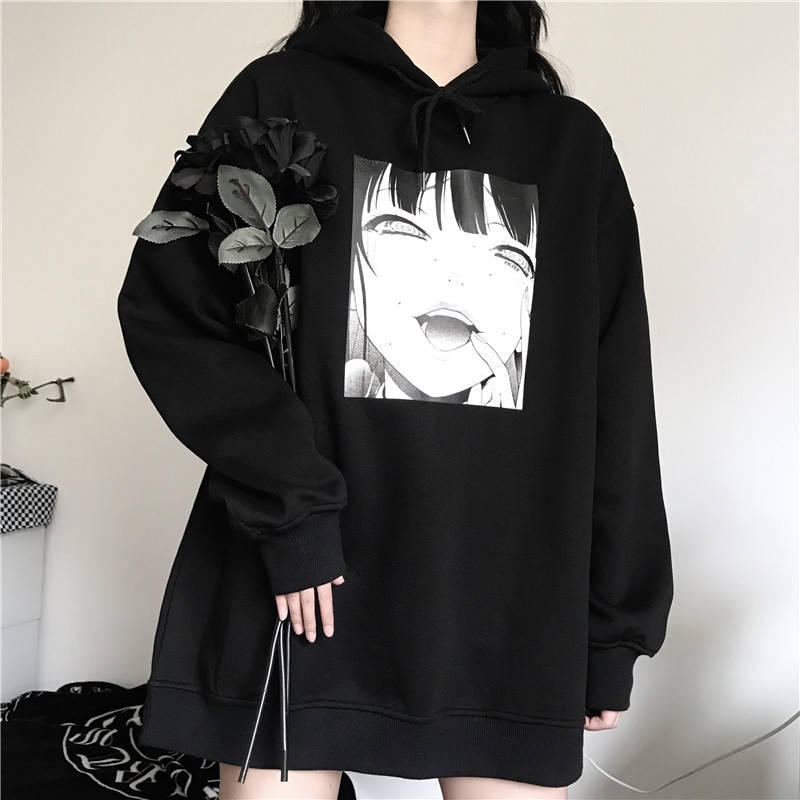 Harajuku Yandere Hoodie Streetwear
