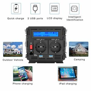 Image 5 - EDECOA pure sine wave power inverter DC 12V to AC 220V 1500W peak 3000W with 5V 2.1A USB remote control LCD display