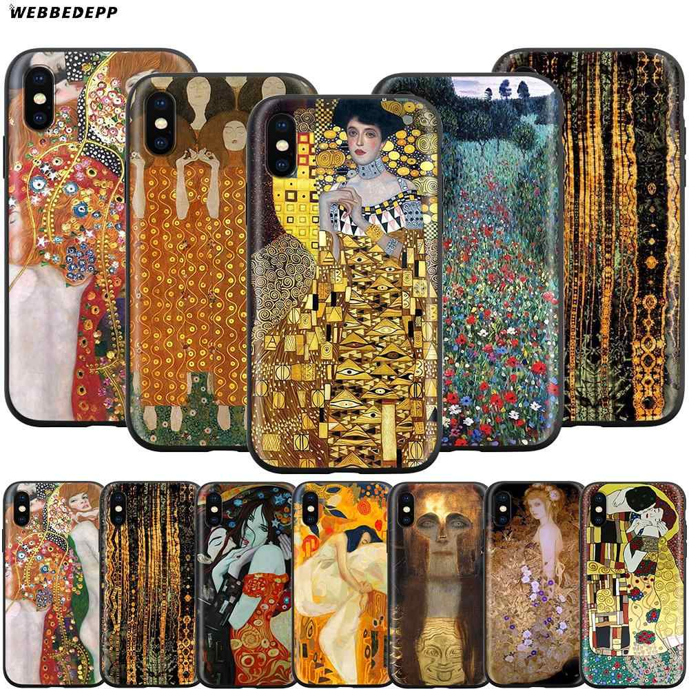 Webbedepp Gustav Klimt funda para iPhone de Apple 11 Pro XS Max XR 8X8 7 6 6S Plus 5 5S SE