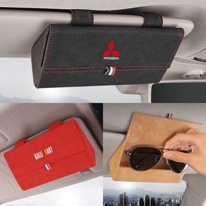 Image 1 - Car Sun Visor Glasses Box Storage Holder Sunglasses Case for Mitsubishi RALLIART ASX Lancer Colt Pajero Outlander Eclipse Galant