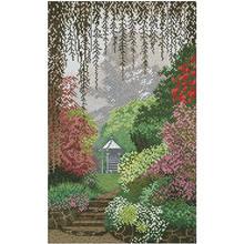Красивые узоры в виде секретного сада вышивка крестиком 11ct