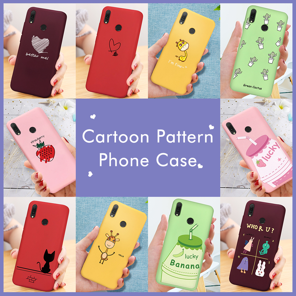 Colorful Cartoon Printed TPU <font><b>Case</b></font> For <font><b>Huawei</b></font> <font><b>P20</b></font> <font><b>Lite</b></font> P30 <font><b>Mate</b></font> 20 Pro 10 P10 <font><b>Lite</b></font> For Honor 8X 9 10 <font><b>Lite</b></font> 20 Pro Pattern Cover image