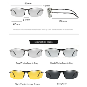 Image 5 - KATELUO 2020 يوم للرؤية الليلية نظارات رجالي نظارات للقيادة الاستقطاب النظارات الشمسية الرجال اللونية الذكور نظارات شمسية 557