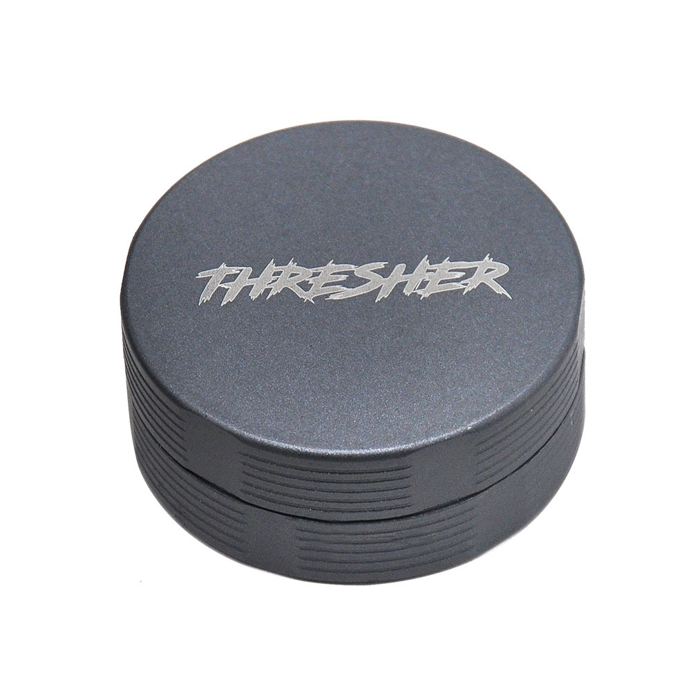 FHRESHER Aircraft Aluminum 56MM Smoking Herb Grinder 2 Piece With Sharp Diamond Teeth Tobacco Metal Smoking Grinders Accessories 4