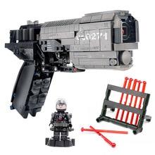 Yeshin 704301 военный пистолет игрушки Legoing MOC Сигнальный Пистолет набор монтажный пистолет Модель Детский Рождественский подарок пистолет строительные блоки кирпичи