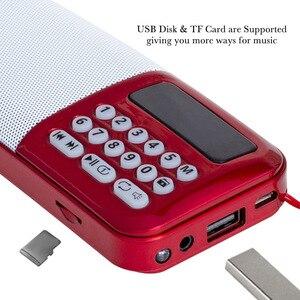 Image 4 - Altavoz inalámbrico portátil con Radio FM y tarjeta TF, reproductor de Radio, MP3, Mini Radio FM con conector para auriculares