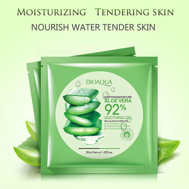 Natural Aloe Vera Collagen Face Mask Anti-aging Moisturizing Whitening Facial Mask Beauty Face Care Product Soothing Gel 3