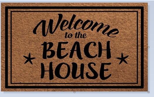 Tapis de sol d'entrée paillasson antidérapant bienvenue à la plage maison porte tapis extérieur intérieur caoutchouc tapis 18x30