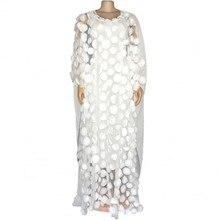 2020 فساتين الأفريقية للنساء نمط جديد الملابس الأفريقية بازين أزياء من الدانتل الأزهار بوبو رداء الأفريقية Dashiki حفلة فستان طويل