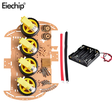4WD Robot Motor Smart Car Chassis Kits With Speed Encoder For Arduino 51 M26 DIY Education Robot Sma
