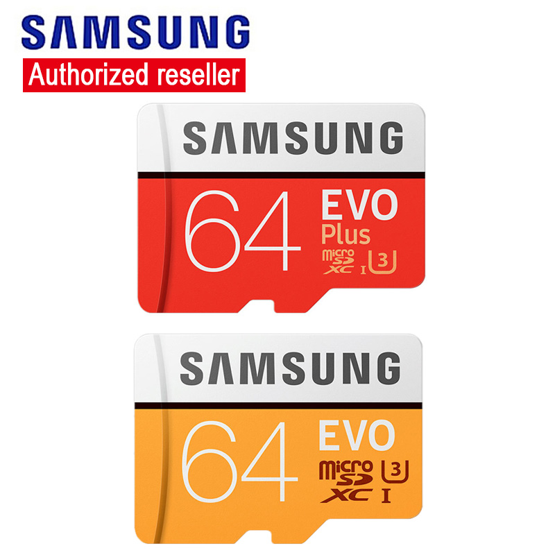 Original Samsung EVO Plus Tarjeta Micro SD Card 64gb Wholesale Price Cartao De Memoria TF Memory Card SDXC U3 Flash Card 64 GB