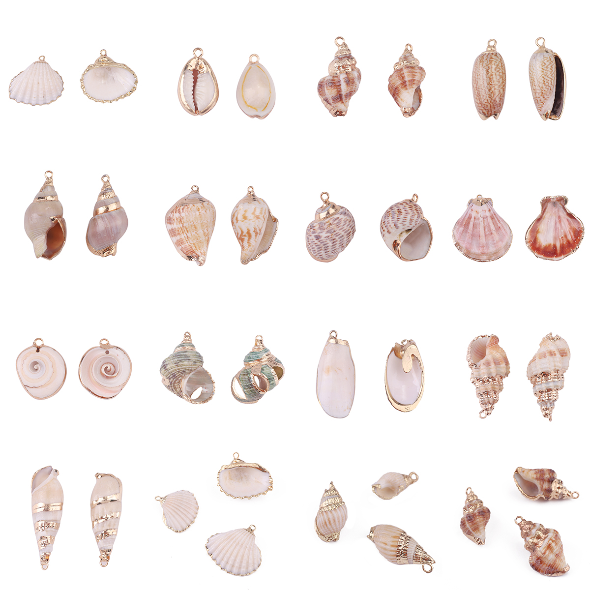 2pcs Natural Shell Pendant Conch Sea Shell Charms Pendant For DIY Earring Necklaces Pendant Jewelry Making Handmade Accessories