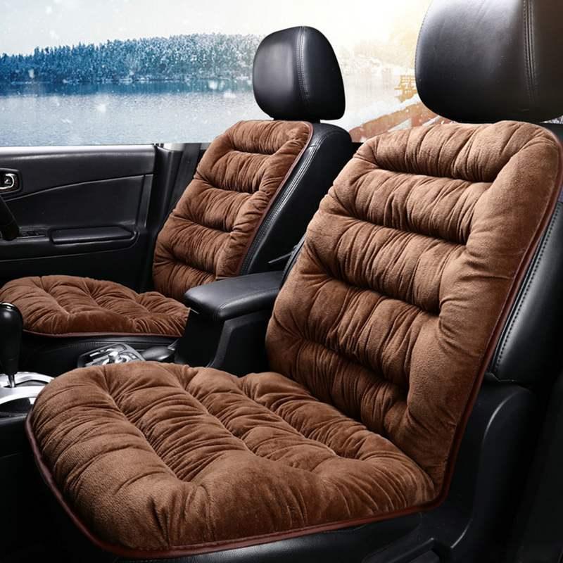 Car Seat Covers Front Car Plush Seat Cushion Comfortable Protection Pad Mat Winter Warm Car Seat Cushion Car Accessories 1