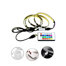 5V5050 Tahan Air Lampu LED Strip dengan Antarmuka USB TV Backlight Strip RGB Lampu Bias Lampu Warna-warni Fleksibel Light 1M 2M(China)