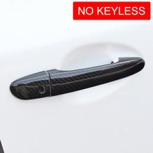 цена на For Mazda 2 3 6 CX3 CX5 CX9 Carbon Fiber Door Handle Cover Protector Decoration Mazda2 Mazda3 Mazda6 CX-3 CX-5 CX-9