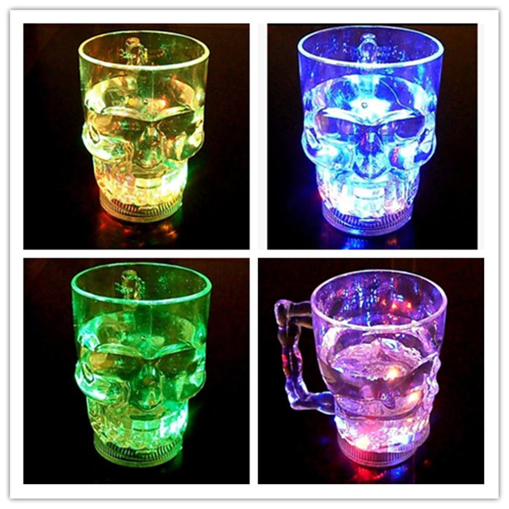 Colorful LED Glowing Beer-Cup Induction Flashing Wine Glass Party Bar Drink-Cup