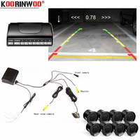 Koorinwoo Car Parking Sensors 8 Radars Video System Auto Parking System BIBI Alarm Sound Alarm Parking Assistance parktronic