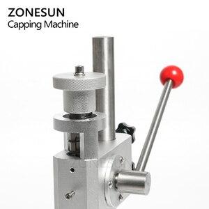 Image 5 - ZONESUN Manual Crimping Machine Perfume Crimper Capper Metal Collar Cap Press Capping Machine Spray Crimper