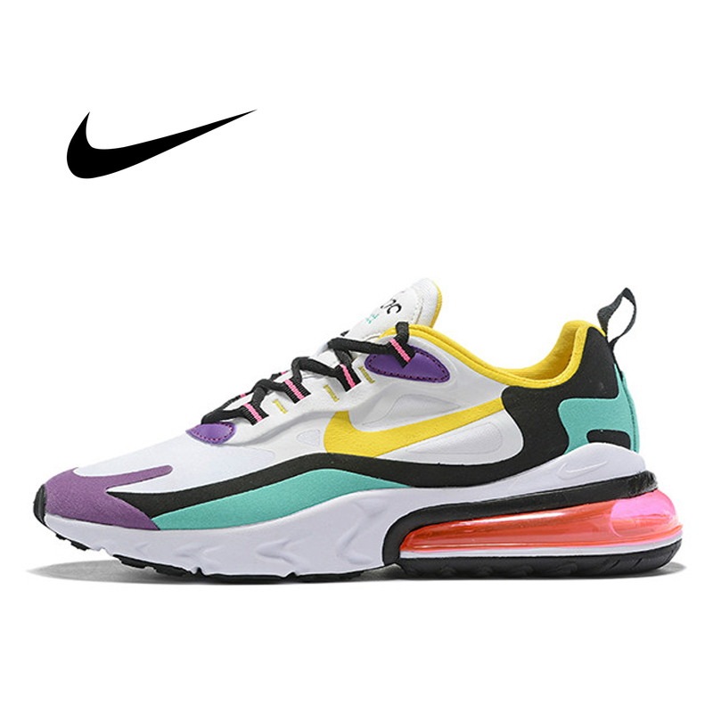 Original Authentic Nike Air Max 270 React Women's Running Shoes 2019 New Sneakers Breathable Comfortable Cushioning AT6174-101