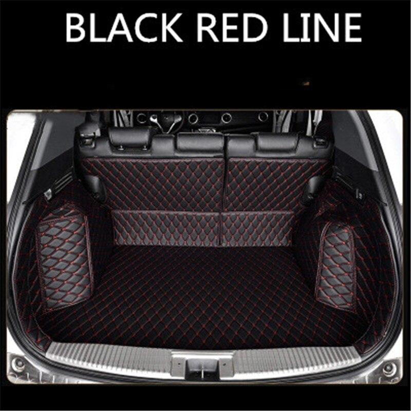 Custom Leather Car Trunk Mats For HONDA Shuttle URV  Inspier XRV CRV Ⅲ  Accord Ⅸ Rear Trunk Floor Mat Tray Carpet Mud