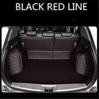 Custom leather Car Trunk Mats For JAGUAR  F Pace XE XF XJ XJ6 Rear Trunk Floor Mat Tray Carpet Mud| |   -