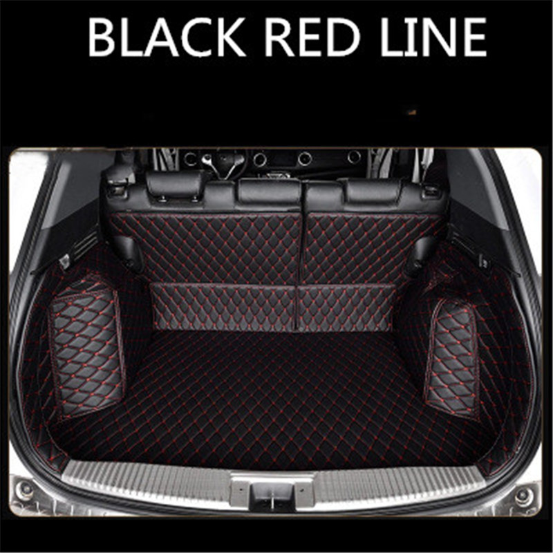 Custom Leather Car Trunk Mats For PEUGEOT 307SW 308 308GT 308SW 408 508 3008 4008 5008 RCZ Rear Trunk Floor Mat Tray Carpet