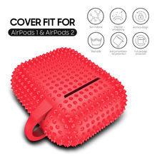 New Spikes Rivets Soft Silicone Airpod Cases for Airpods1 2nd Luxury Protective Earphone Cover Case for Apple Airpods Case 1&2 Shockproof Sleeve(China)