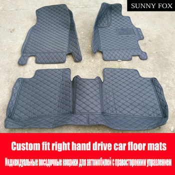 SUNNY FOX Right hand drive/RHD car car floor mats for Kia Rio K2 Spectra Cerato Forte 6D heavy duty foot case car styling rugs c image