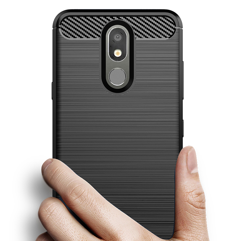 Carbon Fiber Cover Shockproof Phone Case For LG K30 2019 W10 X5 X2 2018 X4 X4+ V35 V30S Plus V50 Thinq V30+ Cover Bumper Case